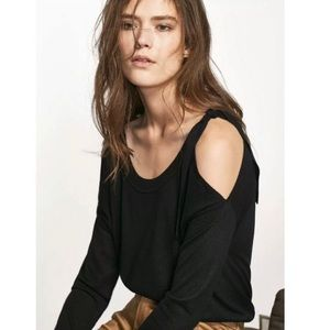 Massimo Dutti Cold Shoulder Knit Top